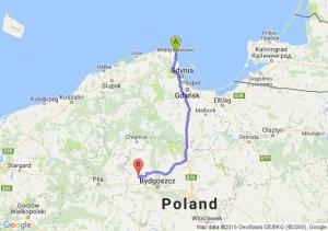 Władysławowo (pomorskie) - Mrocza (kujawsko-pomorskie)