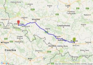 Trasa Kraków - Jelenia Góra