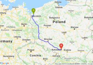 Trasa Goleniów - Katowice