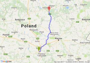 Trasa Rzgów - Olsztynek