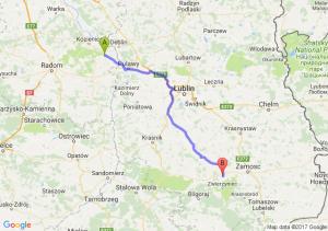 Trasa Bąkowiec - Szczebrzeszyn