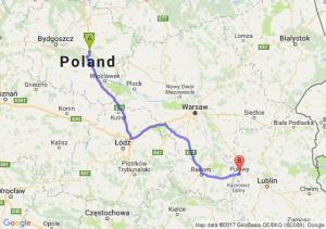 Trasa Lubicz Dolny - Puławy