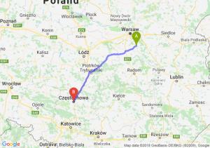 Trasa Góra Kalwaria - Częstochowa