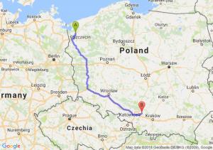 Trasa Goleniów - Dąbrowa Górnicza