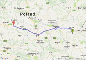 Trasa Łuków - Września