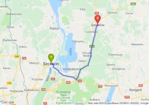 Trasa Szczecin - Goleniów