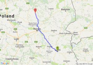 Lublin (lubelskie) - Przasnysz (mazowieckie)