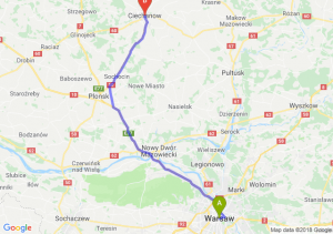 Trasa Warszawa - Ciechanów