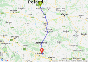 Trasa Włocławek - Dąbrowa Górnicza