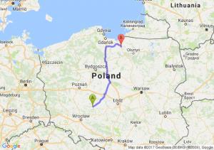 Trasa Ostrów Wielkopolski - Pasłęk