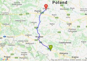 Trasa Krapkowice - Gniezno