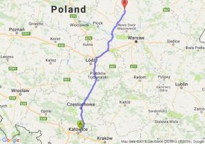 Trasa Sosnowiec - Ciechanów