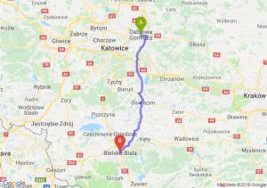 Trasa Dąbrowa Górnicza - Bielsko-Biała