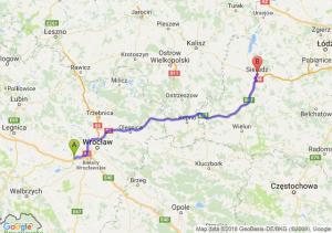 Trasa Kąty Wrocławskie - Sieradz