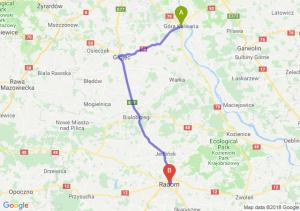 Trasa Góra Kalwaria - Radom