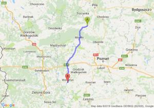 Trasa Czarnków - Wolsztyn