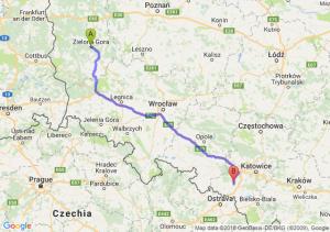 Trasa Zielona Góra - Rybnik