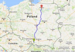 Trasa Bielsko-Biała - Olsztyn