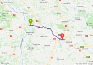 Trasa Puławy - Lublin
