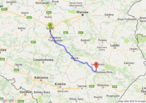 Trasa Łódź - Tarnobrzeg