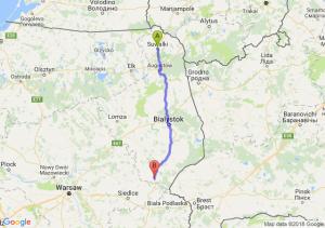 Trasa Suwałki - Siemiatycze