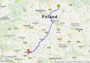 Brodnica - Wrocław