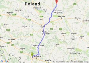 Trasa Gliwice - Ciechanów