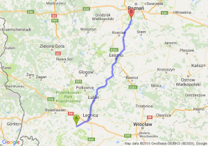 Złotoryja (dolnośląskie) - Mosina (wielkopolskie)