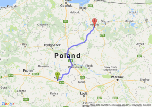 Trasa Konin - Ostróda