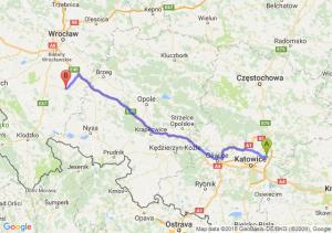 Trasa Dąbrowa Górnicza - Strzelin