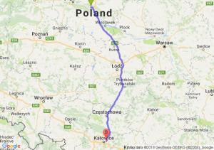 Trasa Toruń - Sosnowiec