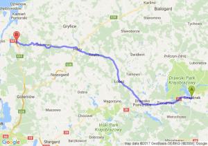 Trasa Czaplinek - Parłowo