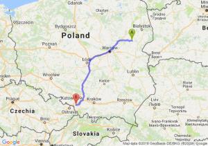 Trasa Ciechanowiec - Pawłowice
