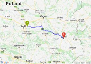 Trasa Brzeziny - Lublin