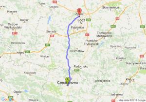 Trasa Częstochowa - Zgierz