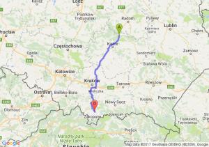 Skarżysko-Kamienna - Nowy Targ