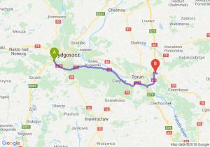 Trasa Białe Błota - Lubicz Dolny