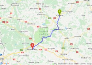 Trasa Głogów - Bolesławiec