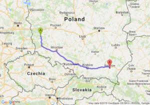 Trasa Zielona Góra - Rzeszów