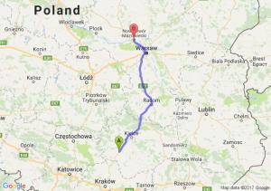 Trasa Jędrzejów - Nowy Dwór Mazowiecki