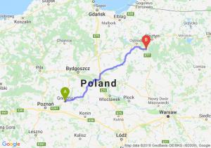Trasa Gniezno - Olsztynek