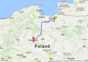 Trasa Pasłęk - Bydgoszcz
