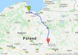 Trasa Gdańsk - Płońsk