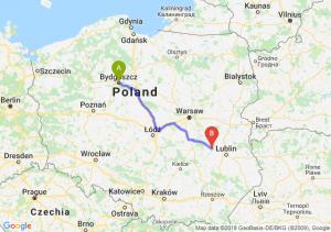 Trasa Bydgoszcz - Puławy