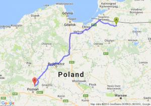 Bartoszyce (warmińsko-mazurskie) - Murowana Goślina (wielkopolskie)