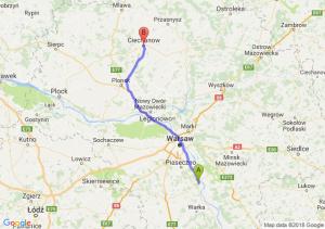 Trasa Góra Kalwaria - Ciechanów