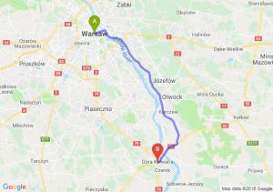 Trasa Warszawa - Góra Kalwaria