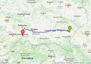 Trasa Jarosław - Bielsko-Biała