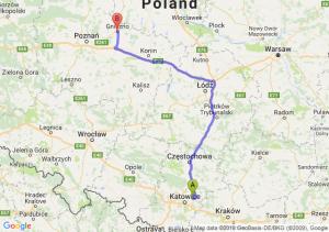 Trasa Dąbrowa Górnicza - Gniezno