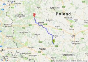 Ostrzeszów (wielkopolskie) - Wronki (wielkopolskie)